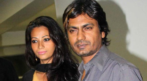 Nawazuddin Siddiqui with his wife Anajli Siddiqui
