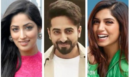 Ayushmann, Yami and Bhumi Pednekar dance as 'Bala' wraps up