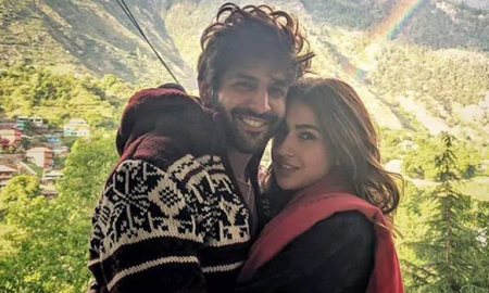 Kartik Aaryan and Sara Ali Khan in Love Aaj Kal 2